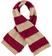 Morbida sciarpa misto lana con bande effetto pellicia e maglia rasata idoBEIGE-ROSSO-8250