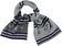 Sciarpa bambino in tricot misto lana fantasia stelle ido GRIGIO MELANGE SCURO-8994