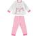 Pigiama bambina in cotone garzato con maglietta svasata ido PANNA - 0112