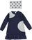 Vestitino per bambina svasato con chiffon arricciato ido NAVY - 3854