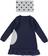 Vestitino per bambina svasato con chiffon arricciato ido NAVY - 3854 back