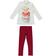 Completo bambina in cotone con maglietta con leonessa ido PANNA-BORDEAUX-8344