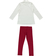 Completo bambina in cotone con maglietta con leonessa ido PANNA-BORDEAUX-8344 back
