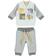 Tutina neonato in cotone giacchina modello bomber ido GRIGIO-PANNA - 8139