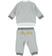 Tutina neonato in cotone giacchina modello bomber ido GRIGIO-PANNA - 8139 back