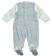 Tutina intera neonato modello finta salopette rigata ido AZZURRO-GRIGIO - 8019 back