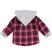 Camicia neonato 100% cotone a quadri con cappuccio ido ROSSO - 2259 back