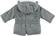 Giubbotto modello parka per neonato ido GRIGIO SCURO-0564 back