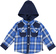 Pratica e comoda camicia bambino 100% cotone a quadri ido ROYAL - 3735