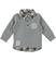 Polo bambino a manica lunga in jersey garzato ido GRIGIO MELANGE - 8970