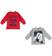 Kit con due magliette bambino  100% cotone mano calda ido ROSSO-GRIGIO-8015