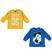 Kit con due magliette bambino  100% cotone mano calda ido GIALLO-BLUETTE - 8218