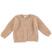 Cardigan per bambina lurex effetto pelliccia ido BEIGE - 0924