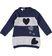 Vestito con cuori in tricot ido BLU-GRIGIO - 8299