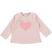 Calda maglietta girocollo con cuore glitter e strass ido ROSA CHIARO - 2612