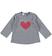 Calda maglietta girocollo con cuore glitter e strass ido GRIGIO MELANGE - 8967