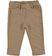 Pantalone bambina in felpa stretch di cotone garzata internamente ido NOCCIOLA - 0937