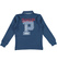 Polo bambino a manica lunga in piquet di cotone stretch ido NAVY-3657 back