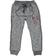 Pantalone bambino modello cavallo calato in felpa melange ido BLU MELANGE - 8903