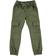 Pantalone modello cargo in twill di cotone con coulisse ido VERDE MILITARE - 5557