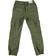 Pantalone modello cargo in twill di cotone con coulisse ido VERDE MILITARE - 5557 back
