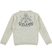 Maglia bambino misto cotone e lana con toppe sui gomiti ido ECRU MELANGE  -8989 back
