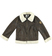 Giubbotto shearling in ecopelliccia colletto rever ido BROWN-0845