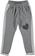 Pantalone per bambina modello cavallo calato in felpa ido GRIGIO MELANGE-8967