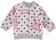Felpa bambina in cotone elasticizzato garzata  PANNA- FUCSIA-6P82