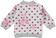 Felpa bambina in cotone elasticizzato garzata  PANNA- FUCSIA - 6P82_back