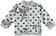 Felpa bambina in cotone elasticizzato garzata  PANNA-NERO-6P83