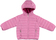 Piumino bambina leggero con cappuccio attaccato  CICLAMINO - 2812