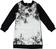 Vestito in felpa con stampa floreale  NERO-0658